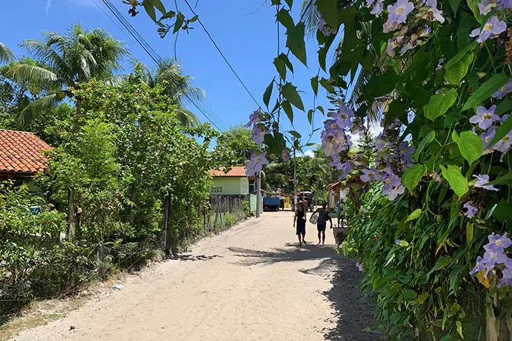 A vila com ruas de areia