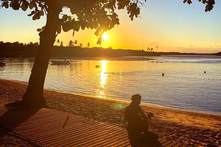 Pôr do sol na Boca da Barra (Foto: Esse Mundo é Nosso)