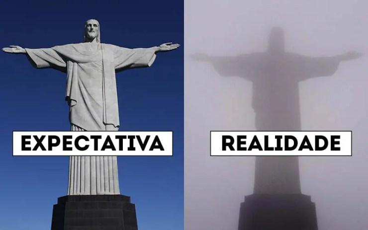 Cristo Redentor: Expectativa x Realidade em viagens