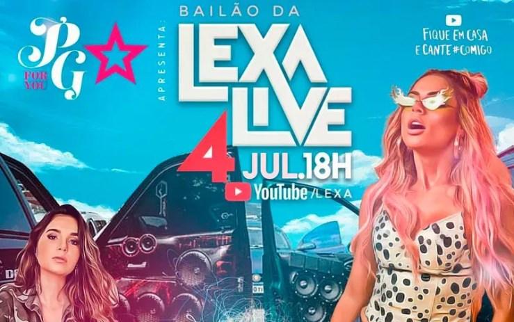 Live da Lexa neste sábado (Foto: Reprodução/Instagram)