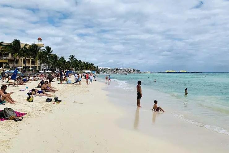 Praias de Playa del Carmen: Praia Central (Foto: Esse Mundo É Nosso)