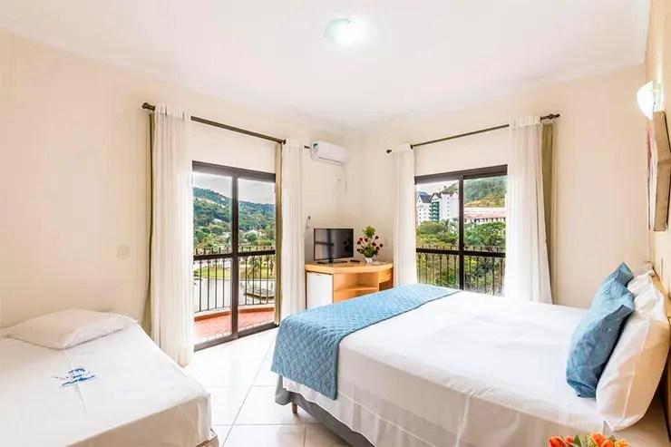 Hotéis e pousadas em Poços de Caldas: Quarto do Hotel Guarany (Foto: Reprodução/Booking)