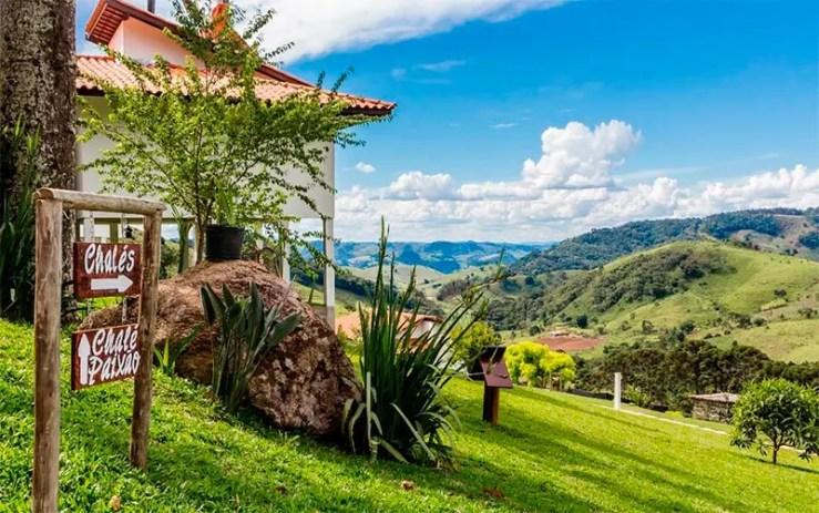 Hotéis e pousadas em Gonçalves: Vista da pousada Colina das Andorinhas (Foto: Reprodução/Booking)