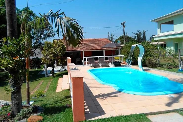 Hotéis e pousadas em Holambra: Piscina da Pousada Chácara Vivalli (Foto: Reprodução/Booking)