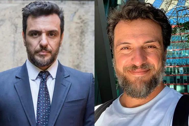 Que ano passou A Força do Querer? Rodrigo Lombardi interpretou Caio (Foto: Memória Globo e Instagram)