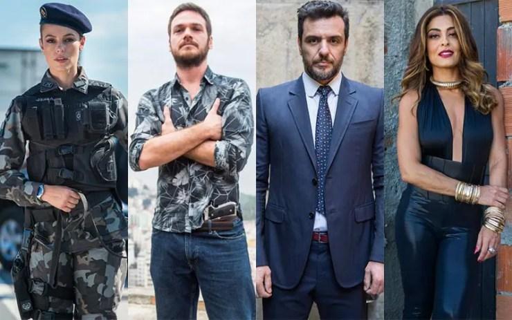 Que ano passou A Força do Querer? Jeiza, Rubinho, Caio e Bibi (Foto: Reprodução/Memória Globo)