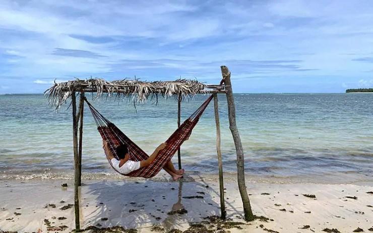 Rede na Praia de Tassimirim