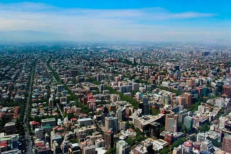 Covid-19 no Chile: Vista de Santiago no Sky Costanera (Foto: Esse Mundo é Nosso)