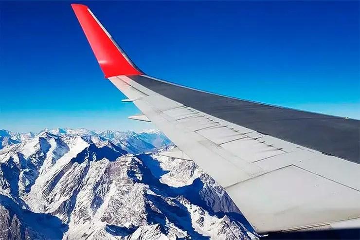 Coronavírus no Chile: Vista dos Andes no avião (Foto: Esse Mundo é Nosso)