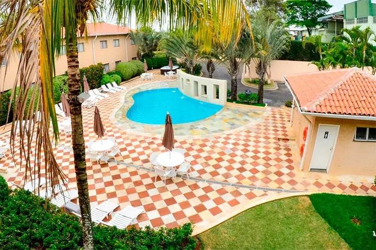 Hotéis e pousadas em Itu: Área externa do Gandini Hotel (Foto: Divulgação)