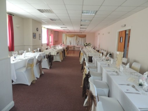 Essendine Village Hall - Essendine Wedding Set Up 01