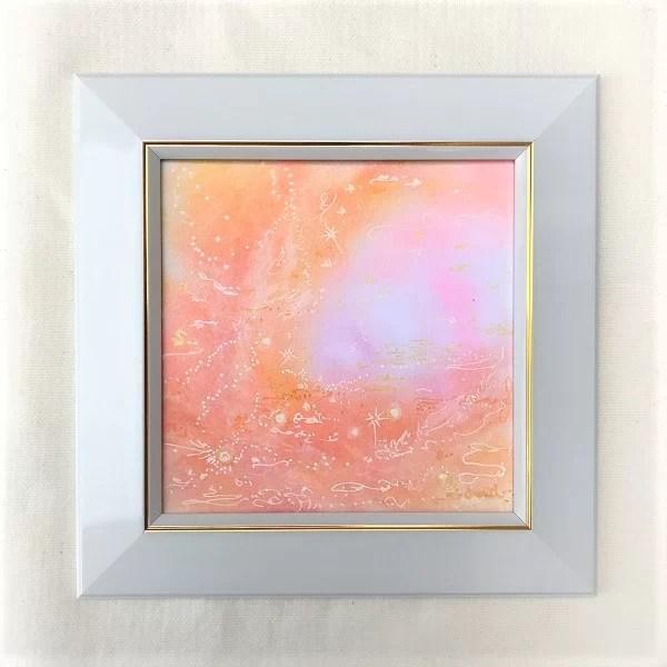 山羊座ヒーリングパステルアートの画像