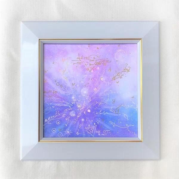 獅子座ヒーリングパステルアート画像