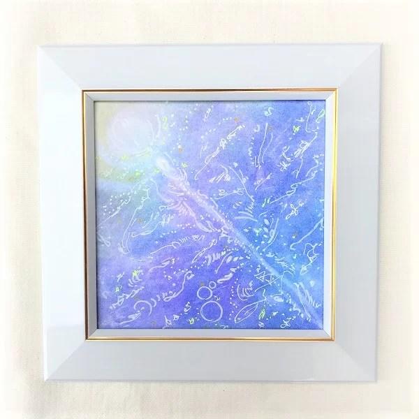 魚座ヒーリングパステルアートの画像