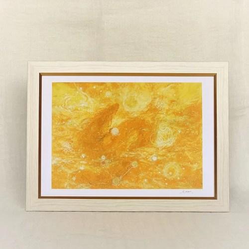 龍脈画 黄色の龍の絵