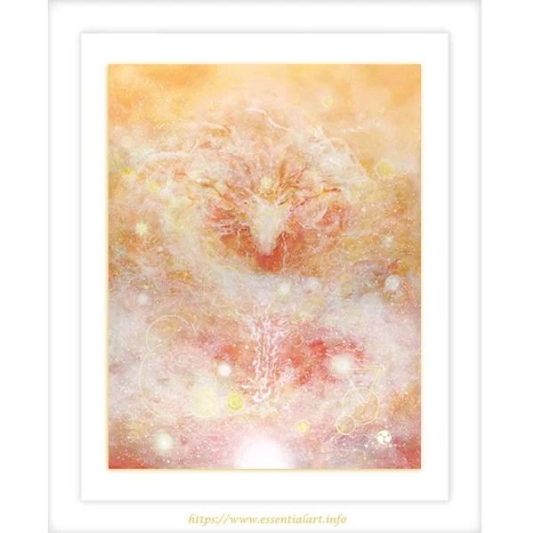 祝福 龍神の絵 アクリル絵画