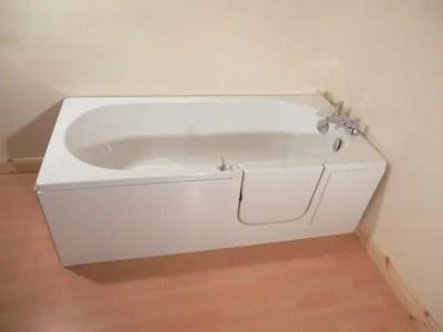 The Avrail 150 Walk In Bath Door Closed