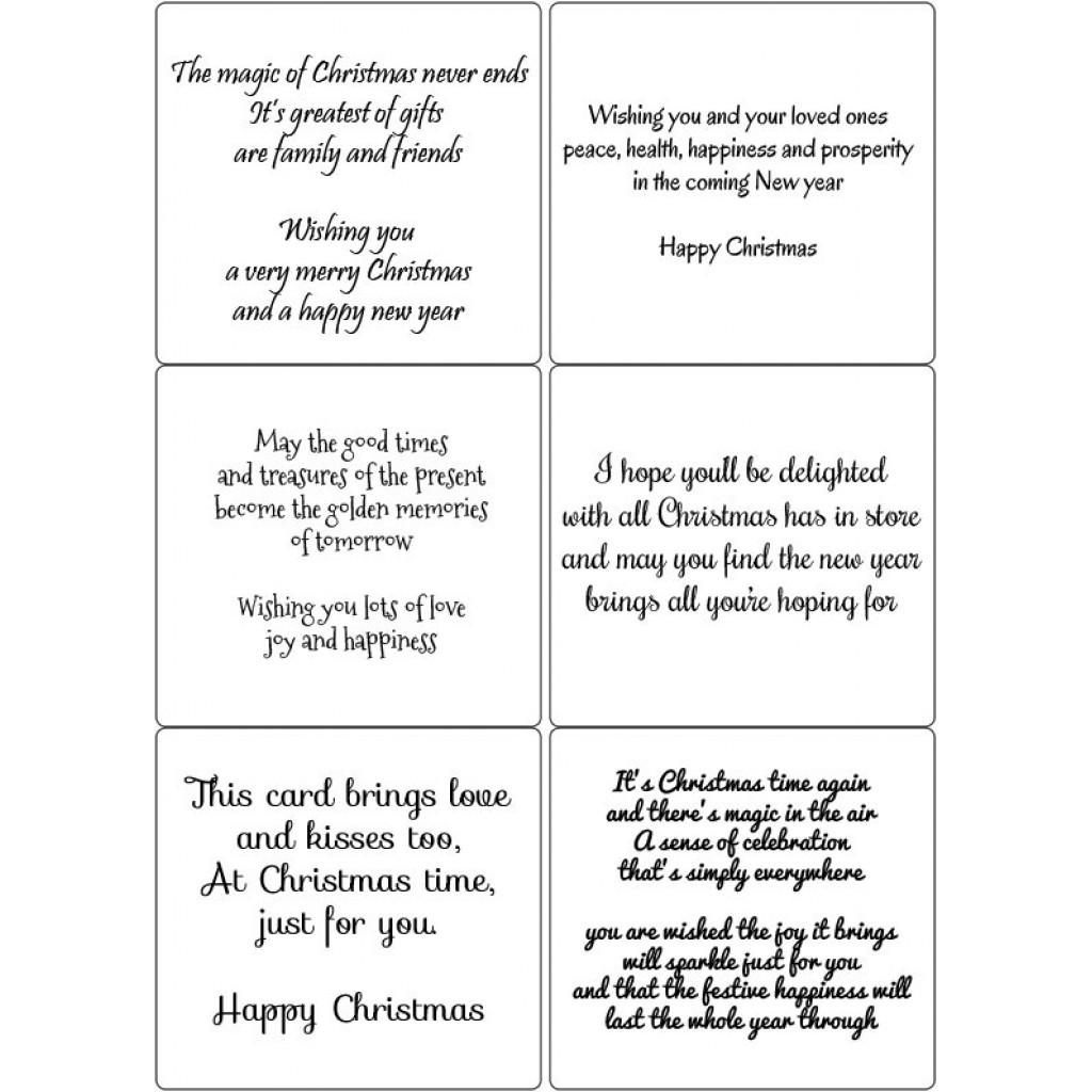 Peel Off Christmas Verses 5 Sticky Verses For Handmade