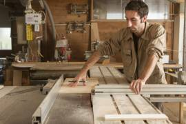 Young Wood Worker In Joinery
