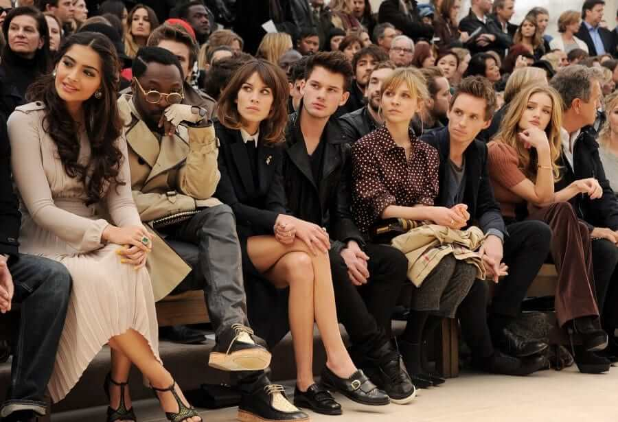 front-row-burberry