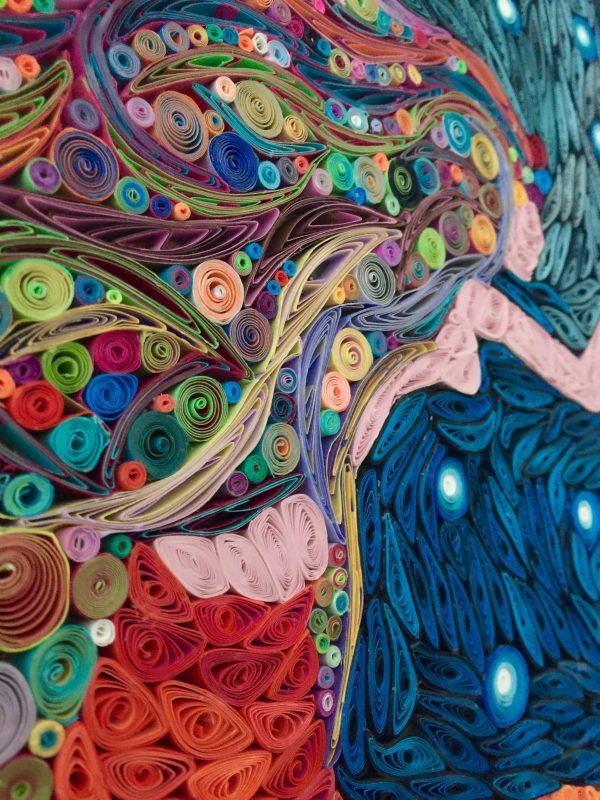 """Quilled Mermaid Art """"whimsy"""""""