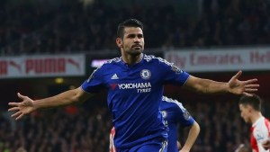 Diego Costa leads the race for the golden boot with 13 league goals so far
