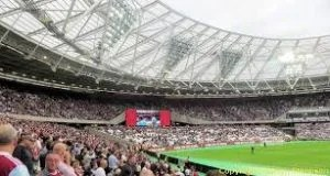 The London Olympic stadium