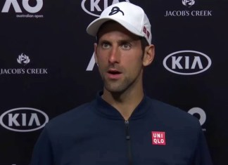 Former champion Djokovic