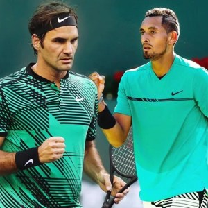 Nick Kyrgios takes on Roger Federer in an enticing quarterfinal in the dessert