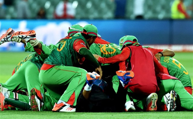 Bangladesh celebration 2015 Cricket World Cup