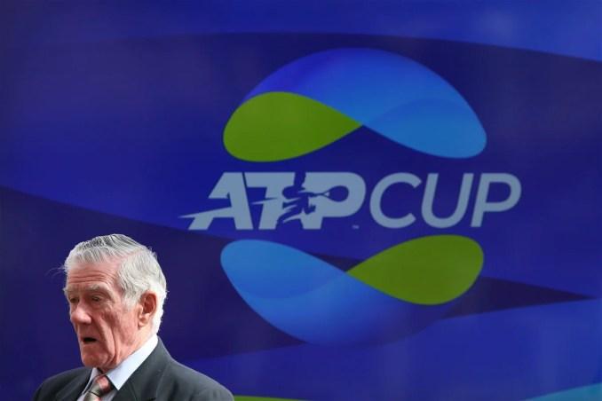 Tennis legend Ken Rosewall during 2020 ATP Cup