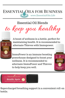 Business Essential oil blends to help you stay healthy, boosting immunity, so you are less likely to catch the crud, allowing you to spend more time being productive and enjoying life