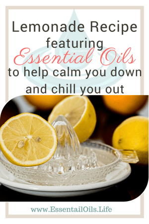 A healthy lemonade recipe, and extra ideas that are all sugar-free... to help cool you off, calm you down, and chill you out