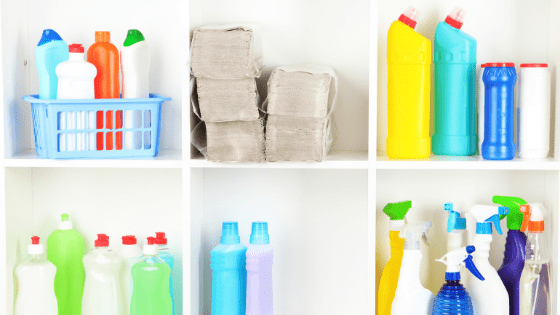 Get rid of the clutter from under your kitchen sink and better organize by removing what you don't need. For example, we traded in our counter cleaners, floor cleaners, tub and tile cleaners, bathroom cleaners, toilet cleaners, shower cleaners, heavy duty cleaners, oven cleaners, grill cleaners, car cleaners, and window cleaners and swapped them out for ONE cleaner that does it all! Mari Kondo your cleaning! Effective Minimalist Cleaning for Small Space and RV Living