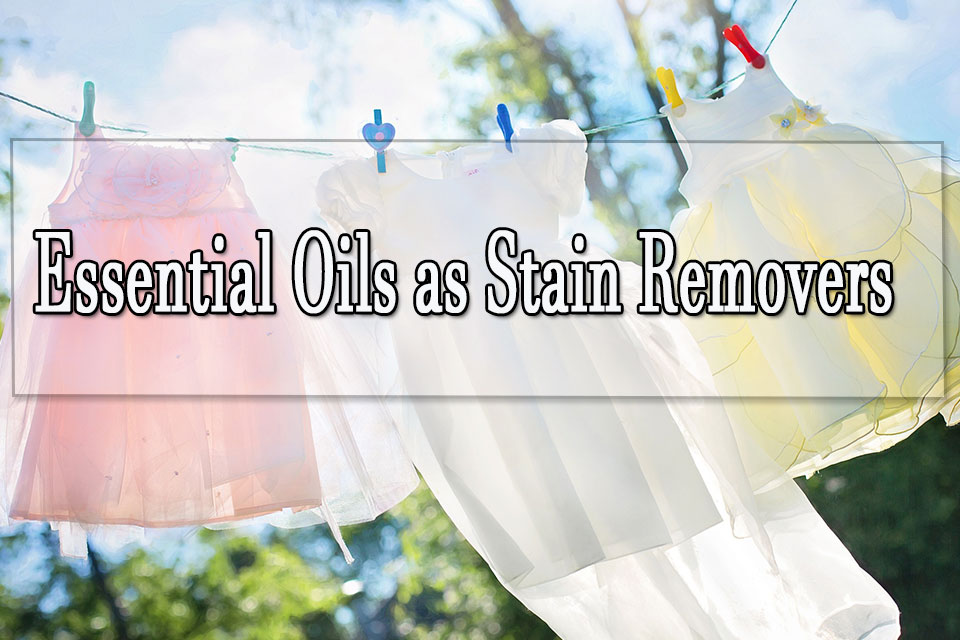 Essential oil stain remover