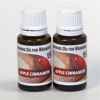 2-Pack. Apple Cinnamon Fragrance Oil for Warming from EcoScents (15 mL). Highly concentrated for intense fragrance, ready to use - no wax or water carrier needed.