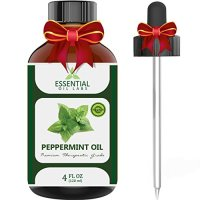 Peppermint Oil - Highest Quality Therapeutic Grade Backed by Medical Research - Largest 4 Oz Bottle with Premium Dropper, Essential Oil Labs