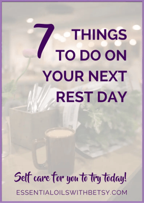 7 Things To Do On Your Next Rest Day Life gets so rushed and just crazy, doesn't it? It'shealthy to just step away from it all for time to rest and practice self care. Have you ever taken a rest day? What Is A Rest Day? A rest day is a day set aside for self care.