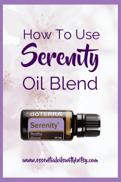 doTERRA Serenity Calming Essential Oil Blend Are you wondering how to use doTERRA Serenity Calming essential oil blend? I've compiled a whole blog post of ideas! Read on! What Is doTERRA Serenity Calming Oil Used For? doTERRA Serenity is a well-known favorite for relaxation, calming, and feelings of restfulness. This doTERRA blend is the perfect choice for supporting healthy emotional balance. doterra serenity calming essential oil