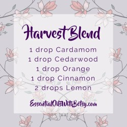Harvest Essential Oil Diffuser blend