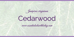 doTERRA Cedarwood Essential Oil Usage
