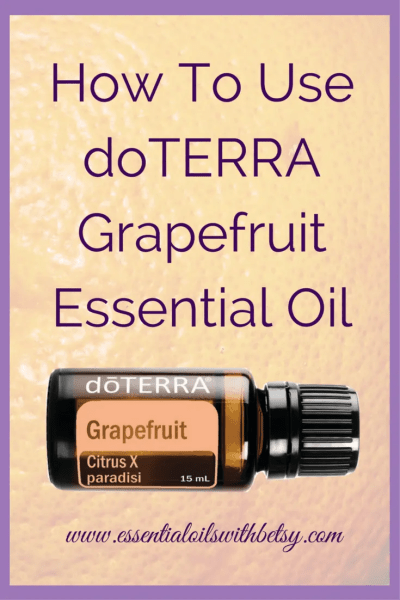 doTERRA Grapefruit Essential Oil Usage doTERRA Grapefruit essential oil benefits the cardiovascular system. Grapefruit essential oil is cold pressed from the rind, and not the fruit. This beautiful citrus oil is high in monoterpenes.