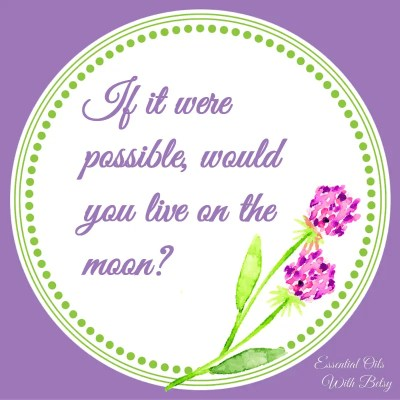 Journal Prompt 16: If it were possible, would you live on the moon?