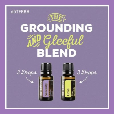 27 doTERRA diffuser blends |The Grounding and Gleeful Blend - 3 drops Serenity 3 drops Lime