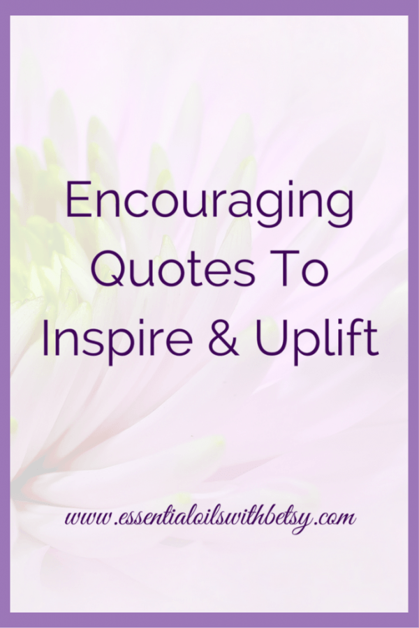 Encouraging quotes are a wonderful way to uplift ourselves naturally. Our minds are amazing because we can train them to think about life in certain ways, whether positive or negative. If we are constantly thinking negative thoughts, unfortunately, this becomes a habit for our brain. But don't despair, because new habits can be formed. Habits that are far more positive, and get our brains into a positive loop instead of a negative loop. We truly are what we think we are! As we are looking forward to the New Year, we can start re-training our brains in 2017 to think more positively. Reading through motivational and encouraging quotes is one way I personally work on training my brain to think positively.