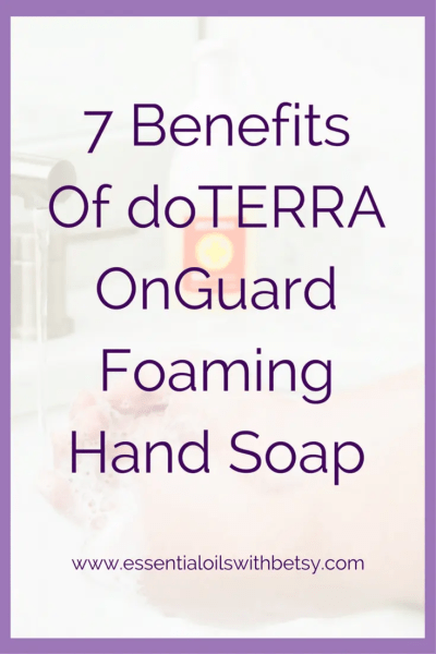 7 Benefits Of doTERRA OnGuard Foaming Soap I am so excited to see that doTERRA OnGuard Foaming Soap is our 10% off doTERRA product this month! (March 2016) I wrote this quick blog post to highlight 7 benefits of using this all natural hand wash by my favorite essential oil company.
