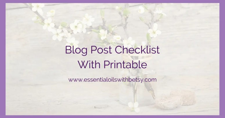 Blog Post Checklist With Printable