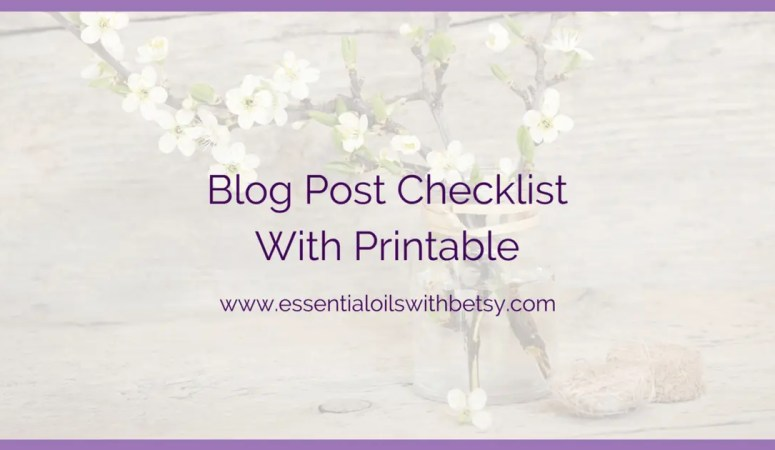 Blog Post Checklist With Printable