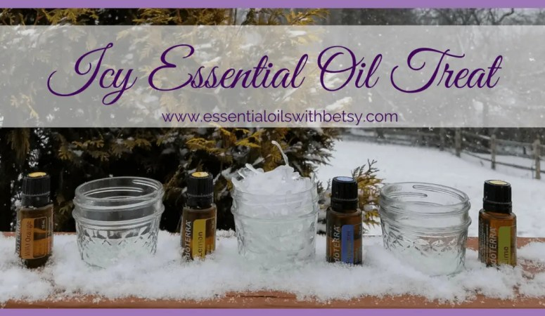 Icy Essential Oil Treat For Winter