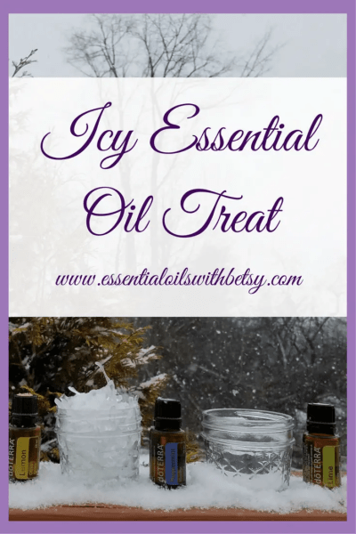 essential oil icy treat During the winter, it can be a challenge to entertain children (and adults!). Especially when it's snowy and cold outside. Why not try out this icy essential oil treat for the whole family to enjoy?